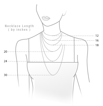 collar bone size chart jewelry